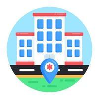 localização e navegação do hospital vetor