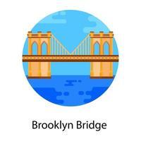 suspensão da ponte do brooklyn vetor