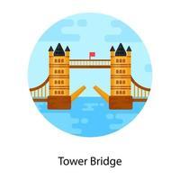 ponte da torre e suspensão vetor