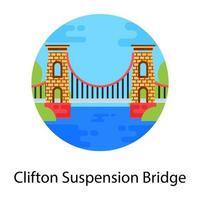 ponte suspensa de clifton vetor