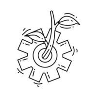 ícone de agronomia agrícola. conjunto de ícones desenhado à mão, contorno preto vetor