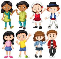 Grupo de crianças internacionais