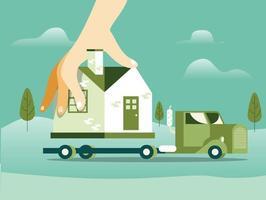 vetor de conceito de ilustração em movimento de casa