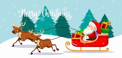Cartão de Natal feliz de Santa vetor