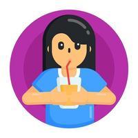 bebendo café e chá vetor