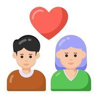 casal apaixonado e cônjuges vetor