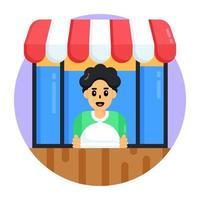 loja de comida e barraca vetor