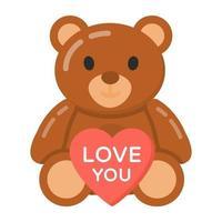 urso de pelúcia e dia dos namorados vetor