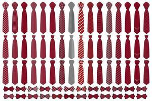 ilustração sobre o tema grande conjunto colorido gravatas diferentes tipos vetor