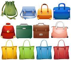 Design diferente de bolsas vetor
