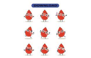 imagens de mascote do conjunto de sangue. vetor livre