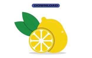 grande fruta fresca de limão com alta resolução vetor