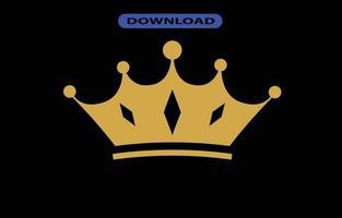 ícone de coroa ou logotipo em alta resolução vetor