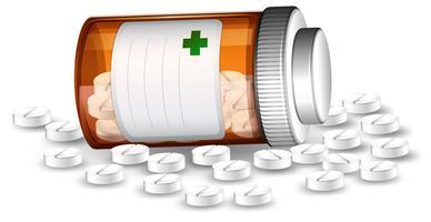 Pílulas recipiente e medicene vetor