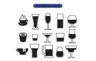 ícone ou logotipo de bebida para empresas e sites de grande porte vetor
