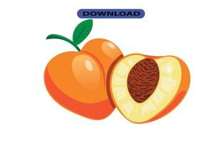 ícone de pêssego ou logotipo em alta resolução vetor