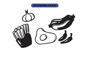 ícone de fast food ou logotipo em alta resolução vetor
