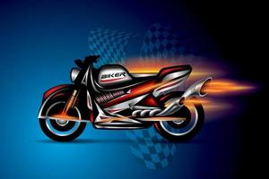motociclista, emblema da motocicleta, vetor de design de logotipo.