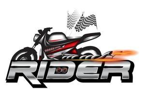 piloto, emblema da motocicleta, vetor de design de logotipo.