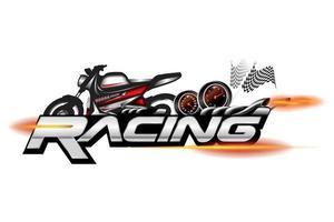 emblema de motocicleta de corrida, vetor de design de logotipo.