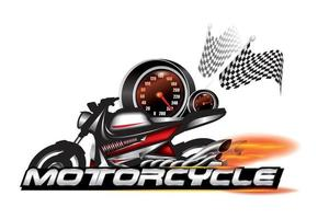emblema da motocicleta, vetor de design de logotipo.