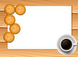 Café e biscoitos vetor