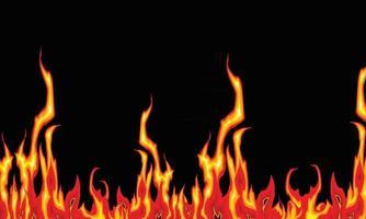 fundo de banner de fogo flamejante vetor