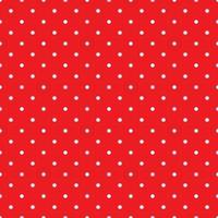 padrão de fundo de bolinhas vermelhas brancas retrô sem costura vetor