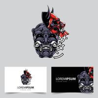 logotipo do mascote da máscara de Satanás vetor