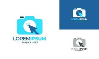 logotipo de fotografia online, logotipo de câmera online vetor