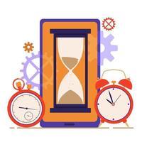 conceito de gerenciamento de tempo. planejamento e organização do trabalho. vetor