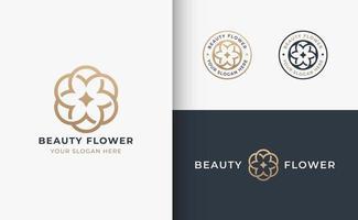 design do logotipo do emblema do salão de beleza do cabelo vetor