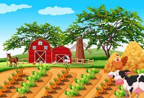 Uma paisagem rural fazenda