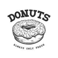 emblema retro donut vetor