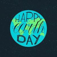 letras do feliz dia da terra vetor