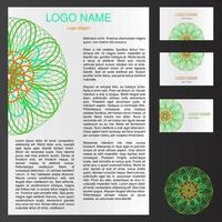 modelo de logotipo para folheto e cartão de visita vetor