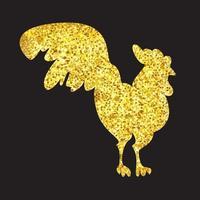 estandarte galo de ouro vetor