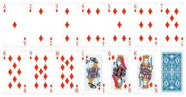 Cartões de poker vetor
