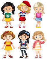 Meninas de diferentes países