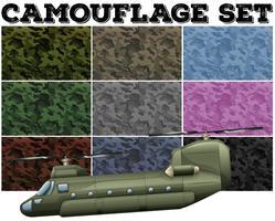 Comouflage definido com tema militar vetor