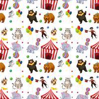 Um padrão de circo sem emenda vetor