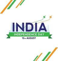 feliz dia da independência da Índia e 15 de agosto papel de parede vetor