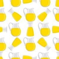 ilustração sobre o tema grande limonada colorida em jarra de vidro vetor