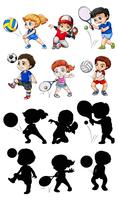 Jogo, de, atleta, personagem