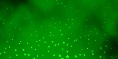 textura vector verde e vermelho escuro com lindas estrelas.