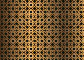 Vetor de imagem de fundo islâmico sem costura padrão dourado