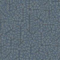 caneta desenhando ramos e folhas padrão de repetição perfeita vetor