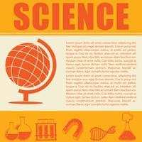 Infográfico de ciência com símbolos e texto vetor