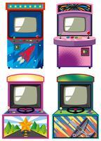 Quatro design de gameboxes de arcade vetor