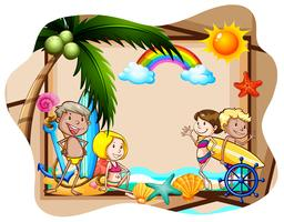 Praia e banner